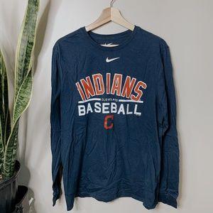 • NIKE • Cleveland Indians long sleeve tee